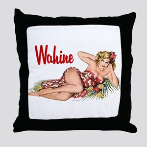 Wahine Throw Pillow