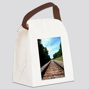 .railroad tracks. color Canvas Lunch Bag
