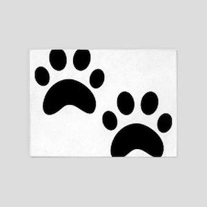 Cat Paw Prints 5'x7'Area Rug