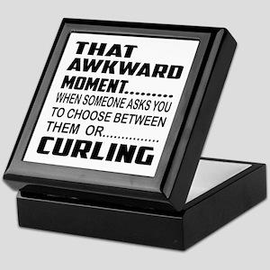 That Awkward Moment... Curling Keepsake Box