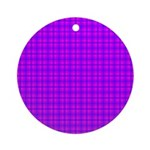 Purple and Pink Checkered Gingham Pattern Ornament