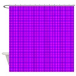 Purple and Pink Checkered Gingham Pattern Shower C