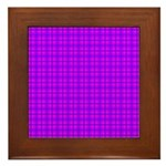 Purple and Pink Checkered Gingham Pattern Framed T