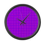 Purple and Pink Checkered Gingham Pattern Large Wa