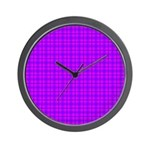 Purple and Pink Checkered Gingham Pattern Wall Clo
