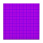 Purple and Pink Checkered Gingham Pattern Tile Coa