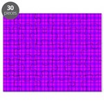 Purple and Pink Checkered Gingham Pattern Puzzle