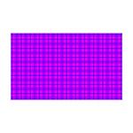 Purple and Pink Checkered Gingham Pattern 35x21 Wa