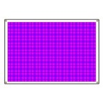 Purple and Pink Checkered Gingham Pattern Banner