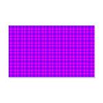 Purple and Pink Checkered Gingham Pattern 20x12 Wa