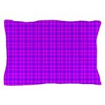 Purple and Pink Checkered Gingham Pattern Pillow C