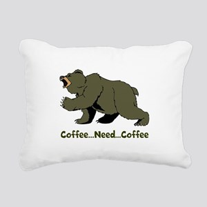Need Coffee Rectangular Canvas Pillow