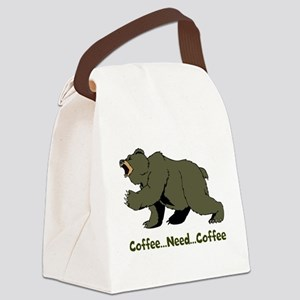 Need Coffee Canvas Lunch Bag