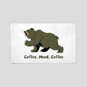 Need Coffee 3'x5' Area Rug