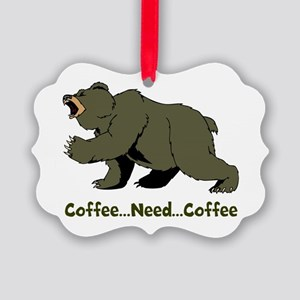 Need Coffee Picture Ornament