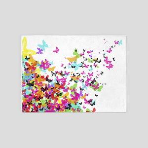 japanese butterflies 5'x7'Area Rug