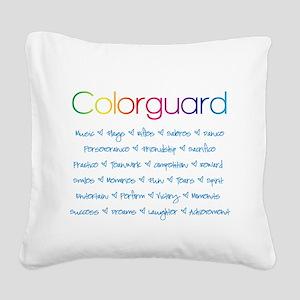 Colorguard Square Canvas Pillow