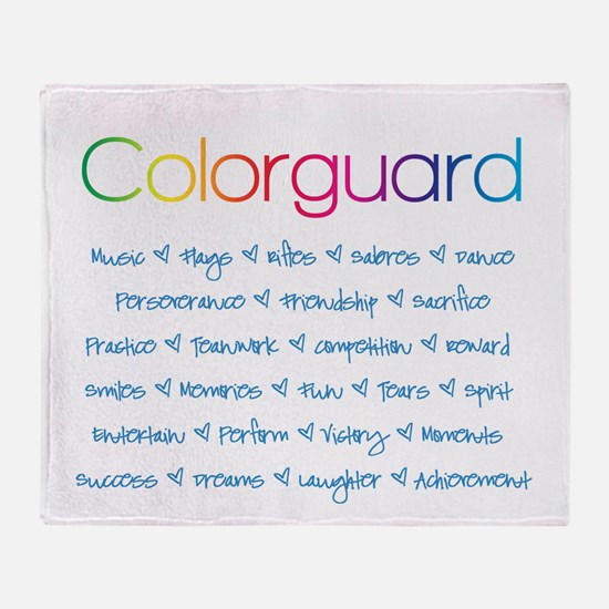 Colorguard Throw Blanket