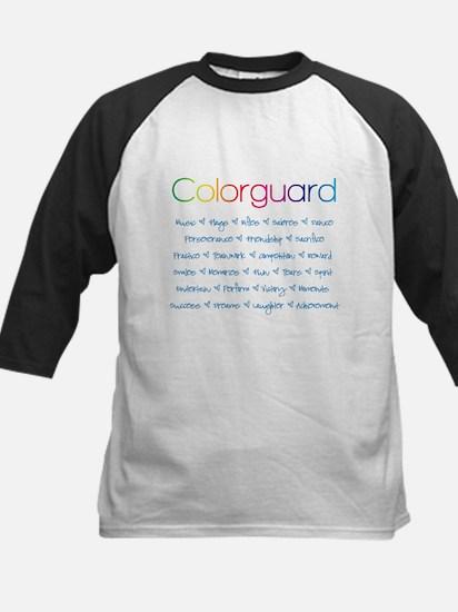 Colorguard Kids Baseball Jersey