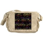 Rainbow and Black Star Pattern Messenger Bag