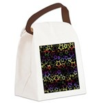 Rainbow and Black Star Pattern Canvas Lunch Bag