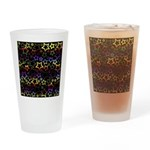 Rainbow and Black Star Pattern Drinking Glass