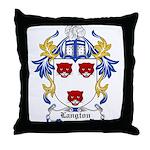 Langton Coat of Arms Throw Pillow