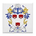 Langton Coat of Arms Tile Coaster