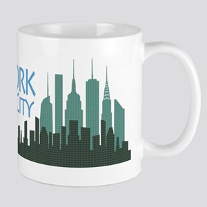 NYC Liberty Skyline textured dark Mug