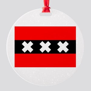 amsterdam flag Round Ornament