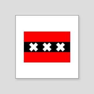 "amsterdam flag Square Sticker 3"" x 3"""