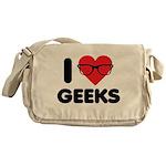I Heart Geeks Messenger Bag
