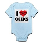 I Heart Geeks Infant Bodysuit
