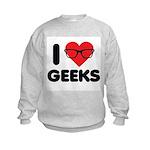 I Heart Geeks Kids Sweatshirt