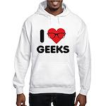 I Heart Geeks Hooded Sweatshirt