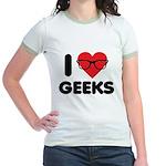 I Heart Geeks Jr. Ringer T-Shirt