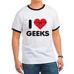 I Heart Geeks Ringer T