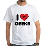 I Heart Geeks White T-Shirt