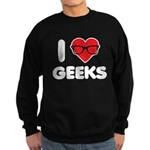 I Heart Geeks Sweatshirt (dark)