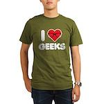 I Heart Geeks Organic Men's T-Shirt (dark)
