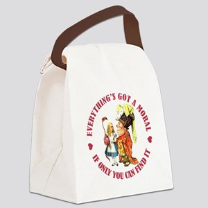 Everything's Got a Moral Canvas Lunch Bag