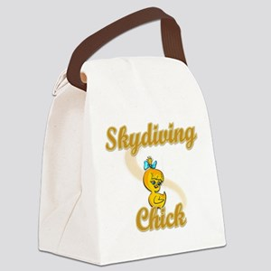 Skydiving Chick #2 Canvas Lunch Bag