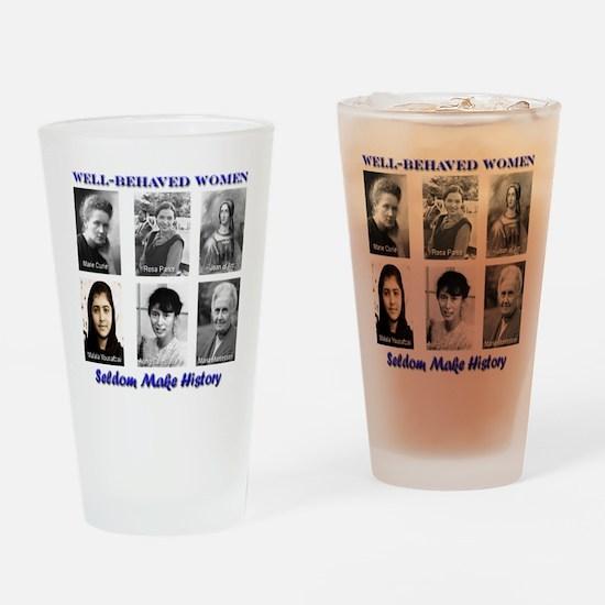 Well-Behaved Women Drinking Glass