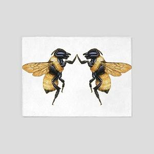 Dancing Bees 5'x7'Area Rug