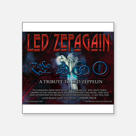 "Led Zepagain Square Sticker 3"" x 3"""
