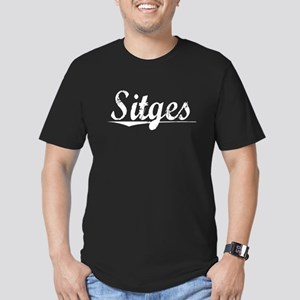 Sitges, Vintage Men's Fitted T-Shirt (dark)