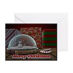 Christmas Snow Globe Card (Pk of 10)