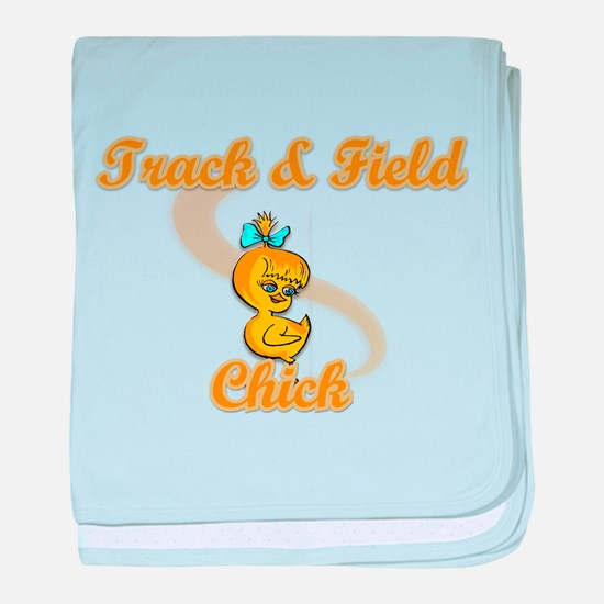 Track & Field Chick #2 baby blanket