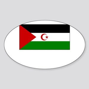 Western Sahara Flag Picture Oval Sticker