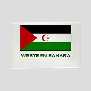 Western Sahara Flag Stuff Rectangle Magnet